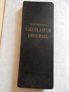 livre Calculateur Universel  - Jean bergman