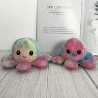 20cm Reversible Flip Octopus Stuffed Plush Doll Tie Dye