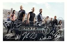 FAST & FURIOUS 7 AUTOGRAPHED SIGNED A4 PP POSTER PHOTO
