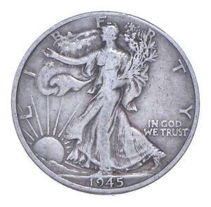 1945-D Walking Liberty 90% Silver US Half Dollar *124