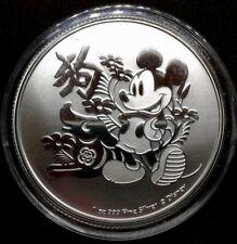 Mickey Mouse 2018 1 oz Silver Disney Niue Lunar Year of the Dog Coin BU