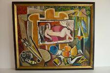 Huile sur toile. Femme sur divan Bougaev Eugène 1992