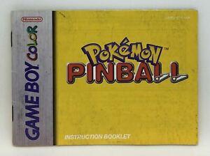 Pokemon Pinball (Instruction Booklet/Manual Only) Game Boy Color Nintendo Origin