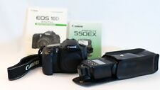 *mint* Canon EOS 10D 6.3 MP DSLR body ONLY w/ Neck strap & Speedlite 550EX Flash