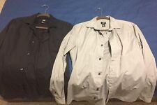 2 Men H&M Forever 21 Zara J Crew Banana Dress Shirts Black Gray Grey Size Small