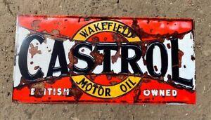 Castrol Oil Oils Metal Sign