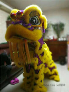 Chinese Folk art Lion Dance mascot Costume wool Southern Lion For two adults hot