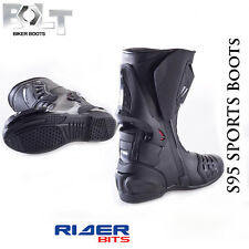 BOLT S95 SPORTS MOTORCYCE BOOT ANKLE PROTECTION RACE MENS MOTORBIKE TRACK SLIDER