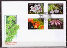 Belarus 2016 FDC First Day Cover Set Orchids Flovers Central Botanical Garden