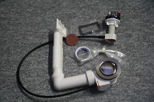 Ablaufgarnitur für Spülen-Einzelbecken mit Überlauf und Drehexenter  Heber