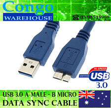 USB 3.0 Type A Male to B Micro 0.8m Data charger Sync Cable Cord Lead SuperSpeed