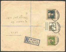 Palestine 1942-5 covers franked with stationery cutouts