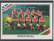 Panini - Mexico 86 World Cup - # 383 Portugal Team Group