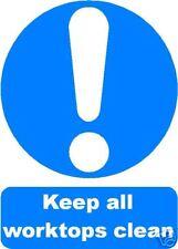 KEEP WORKTOPS CLEAN SIGN/NOTICE  L