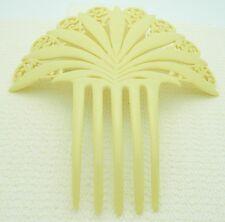 VTG Ivory Colored Celluloid Spanish Mantilla Bridal Wedding Hair Comb