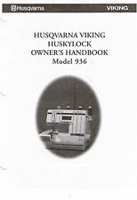Husqvarna Viking Huskylock 936 Serger Overlock Owners Handbook Workbook Book