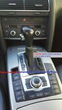 Cuffia leva cambio automatico AUDI A6 C6 dal 2004 al 2011 in vera pelle NERA