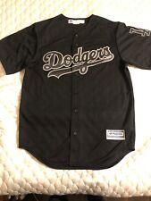 MLB Los Angeles Dodgers Cool Base Custom Black Baseball Jersey - Mens