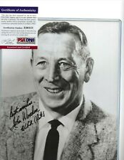 John Wooden Autographed 8x10 B&W Photo UCLA Bruins Basketball HOF Coach PSA COA