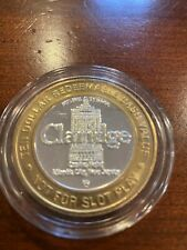 Limited edition Las Vegas Gaming Token Claridge Hotel .999 Silver