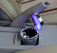 Cylinder LED Light Car Ashtray Portable Cigar Cigarette Ash Container Cup Holder