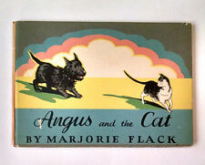 Marjorie Flack, ANGUS AND THE CAT, 1931, 1st Edition, HC, Scottish Terrier