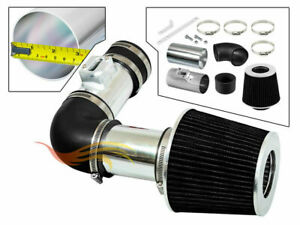 BCP BLACK For 2007-2011 Acura RDX 2.3L DOHC Turbo Ram Air Intake Kit + Filter