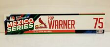 Pop Warner Game Used 2019 Cardinals Mexico Series Locker Tag MLB Authenticated