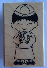 """Hero Arts """" Cute Boy"""" Wood Mounted Rubber Stamp *New*"""