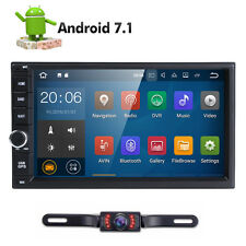 "7"" GPS Navi Android 7.1 Double 2DIN Car Auto Stereo WIFI 4G Bluetooth Radio+ CAM"