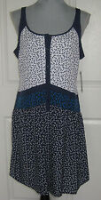 NWT $125 Sperry Topsider Navy Sleeveless Anchors Sun Dress Or Cover Up Sz M