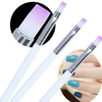 2Pcs Nail Art Striking Brush Builder UV Gel Drawing Painting Pen Manicure Tools#