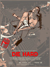 DIE HARD Vincent Aseo SOLD OUT Ltd Ed Variant Print #6 of 40! Not Mondo Durieux