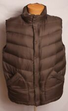 Gap Men's Puffy Down Vest Brown Size XL With Hidden Hood