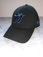 Marlins Baseball Hat New Era Miami Florida Cap 3930 Black MLB Size M/L NWOT  L