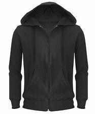 New Plain Mens Hoodie American Fleece Zip Up Jacket Sweatshirt Hooded Top Casual