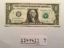 Fancy Serial Number One Dollar Bill Radar