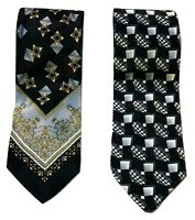 PIERRE CARDIN | 2 x Men's Ties | 100% Pure Silk | Made In Italy | Genuine
