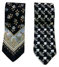 PIERRE CARDIN | 2 x Men's Ties | 100% Pure Silk | Made In Italy | Genuine