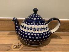 Large teapot 1.5L Handmade Polish pottery Boleslawiec