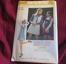NEW Vintage Simplicity 6566 Learn to Sew Basic Jumper Pattern  Size 9/10 Jr Teen