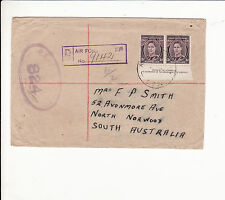AUSTRALIA : WORLD WAR TWO AIR FORCE COVER WITH IMPRINT PAIR rare   G