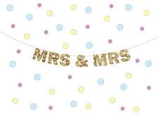 MRS & MRS glitter banner, Mrs and Mrs Banner, Gay marriage banner, Wedding