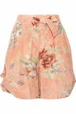 Zimmermann Anais Floral Print Cotton Shorts- Size 0