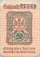 Uelzen 50 pfennig 1919 XF/AU