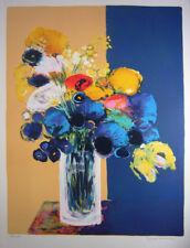 """Jean Claude Allenbach """"Bouquet"""" Original Lithograph S/N"""