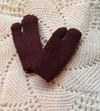 Dark BROWN Short Gloves Pair for Barbie Doll NYLON TRICOT Saturday Matinee Repro