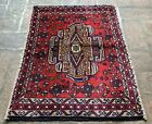 Authentic Hand Knotted Afghan Balouch Wool Area Rug 3 x 2 Ft (22251 HMN)