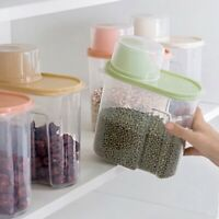 1.9/2.5L Large Capacity Airtight Dry Food Container Cereal Storage Box Durable
