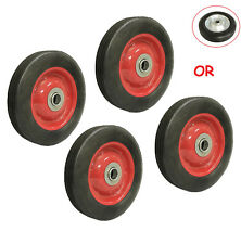 4pc 6 Solid Hard Rubber Tire For Dolly Hand Cart 58 Axle Hole